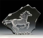 Galloping Horse Leaded Crystal Sculpture