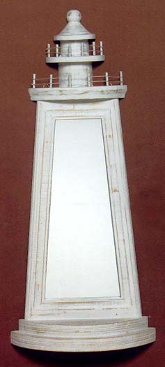 Antiqued Lighthouse Wall Mirror