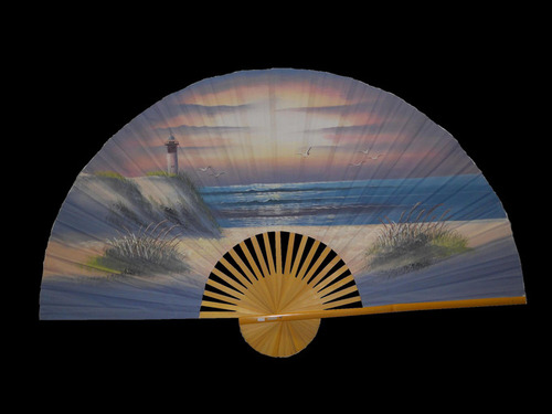 Large Decorative Lighthouse Wall Fan