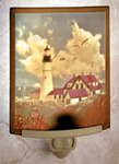 Portland Head Lighthouse Colored Lithophane Night Light