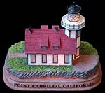 Point Cabrillo, California Lighthouse Night Light and Sculpture