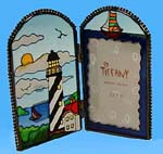 Stainted Glass Lighthouse Photo Frame