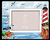 Stained Glass Lighthouse Photo Frame