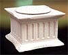 Roman Column -Marble White Light Stand