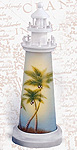 Lighthouse Accent Lamp-Coconut Trees