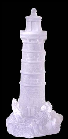 Lighthouse Lucite Sculpture